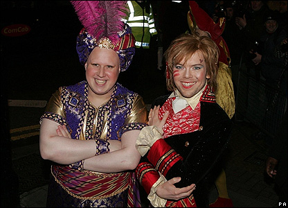 Matt Lucas and Kevin McGee at their reception