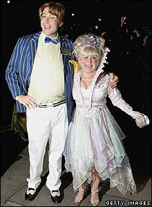 David Walliams and Barbara Windsor