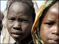 Darfur refugees in Djabal Refugee Camp in Chad
