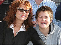 Susan Sarandon with 14-year-old son Miles