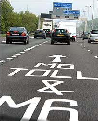 M6 Toll sign