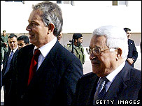 Mahmoud Abbas and Tony Blair