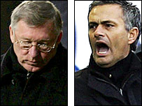Man Utd manager Sir Alex Ferguson and Chelsea counterpart Jose Mourinho