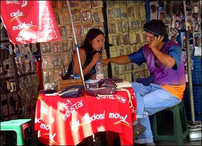 Phone stall in Caracas