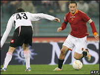 A Serie A match between Palermo (white) and Roma in Rome on  17 December 2006