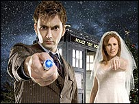 David Tennant and Catherine Tate in The Runaway Bride