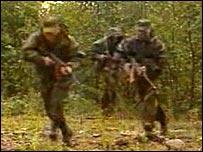 Georgian army training