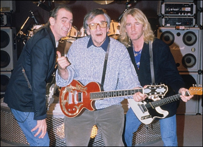 Francis Rossi, Alan Freeman and Rick Parfitt in 1992