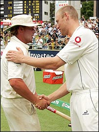 Shane Warne and Andrew Flintoff
