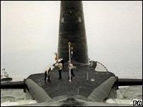 Trident submarine HMS Vigilant