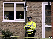 Forensic officers entered Tom Stephens' home