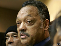 US civil rights leader Jesse Jackson