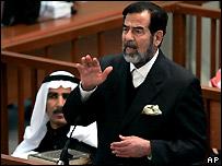 Former late Iraqi President Saddam Hussein