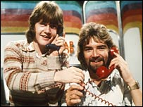 Keith Chegwin and Noel Edmonds on Swap Shop