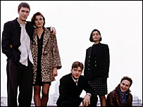 The cast of This Life, 1996