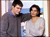 Miles (Jack Davenport) and Anna (Daniela Nardini)