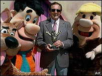 Joseph Barbera received a lifetime achievement award from the Academy of Television Arts and Sciences in LA Sept 1996