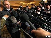 US Assistant Secretary of State Christopher Hill briefs reporters on 19 December 2006
