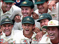 Australia celebrate regaining the Ashes in Perth earlier this week