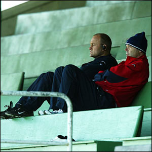 Andy Robinson and Sir Clive Woodward