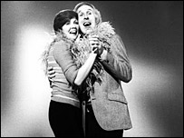 Cilla Black and Bruce Forsyth in 1973