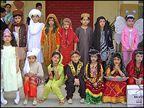 Children dressed up in Lahore, Pakistan