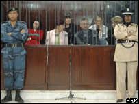The nurses and doctor accused in the Libya HIV trial (Nov 2006)