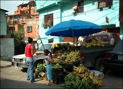 Bananas on sale in Petare, Caracas