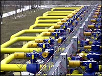 Ukrainian gas pipes - file photo