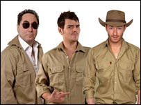 I'm a Celebrity contestants (L-R: David Gest, Matt Willis and Scott Henshall)