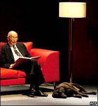 José Saramago en el Festival Internacional de Literatura en Guadalajara, 2006.