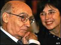 José Saramago y su esposa Pilar del Río.