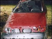 Crashed Vauxhall Astra