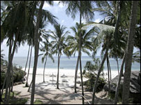Diani beach, Mombassa, Kenya. File photo