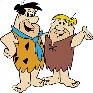 Fred Flintstone and Barney Rubble (credit: Boomerang)