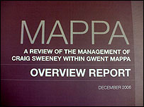 The cover of the Mappa report into the management of Craig Sweeney