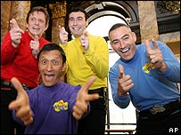 The Wiggles (Page is seen in yellow jumper)
