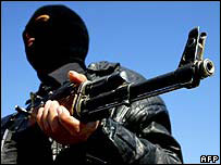 Shia militia man in Baghdad