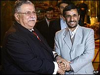 Iraqi and Iranian presidents meet in Tehran