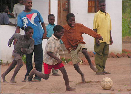African+children+playing+football