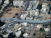 Israeli barrier in Abu Dis, east Jerusalem