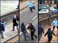 CCTV footage from BBC News