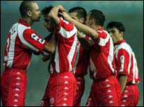 Red Star Belgrade players