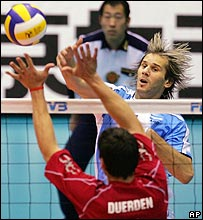 Marcos Milinkovic fue lo �nico destacado de Argentina en el Mundial.
