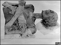 The mummy of Ramses II, photographed in France in 1976