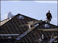 Worker on construction site in Denver
