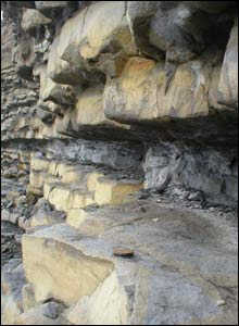 Chris Davies, from Birchgrove, Swansea, sent this picture of the rock beds at Southgate, near Ogmore-on- Sea