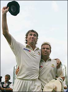 Glenn McGrath and Warne say farewell at The Oval