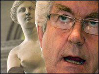 Rhodri Morgan and Venus de Milo statue composite