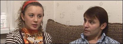 Sveta (L) and Ilya